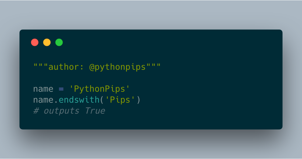 How to Check if the String Ends with the Specified Suffix in Python
