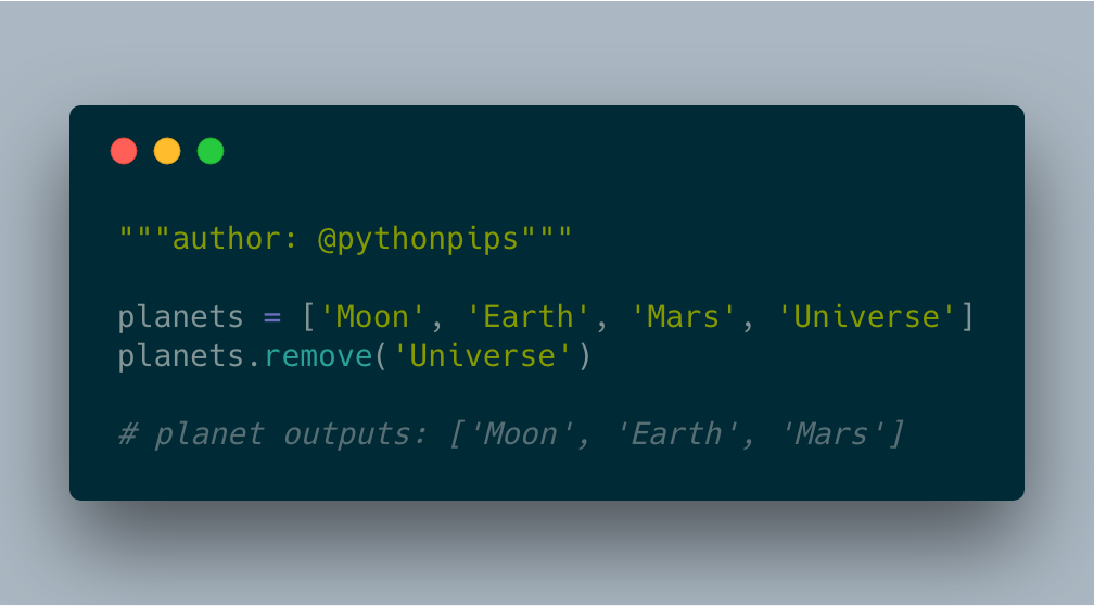 How To Remove An Element From The List In Python