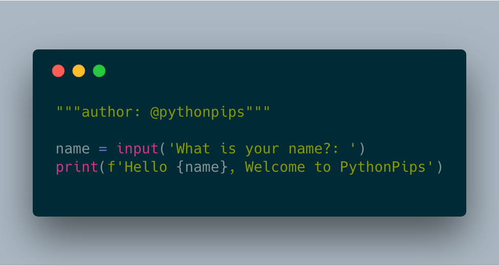 How to Take Input From The User in Python