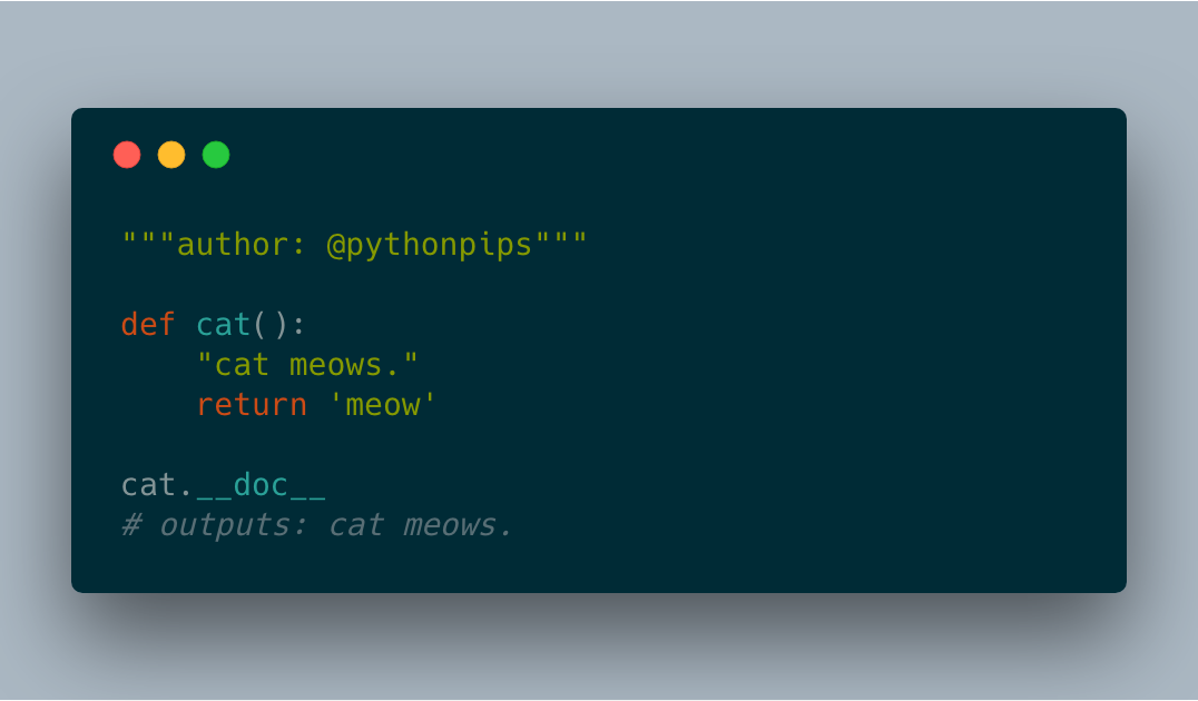 How to get docstring of a function in Python