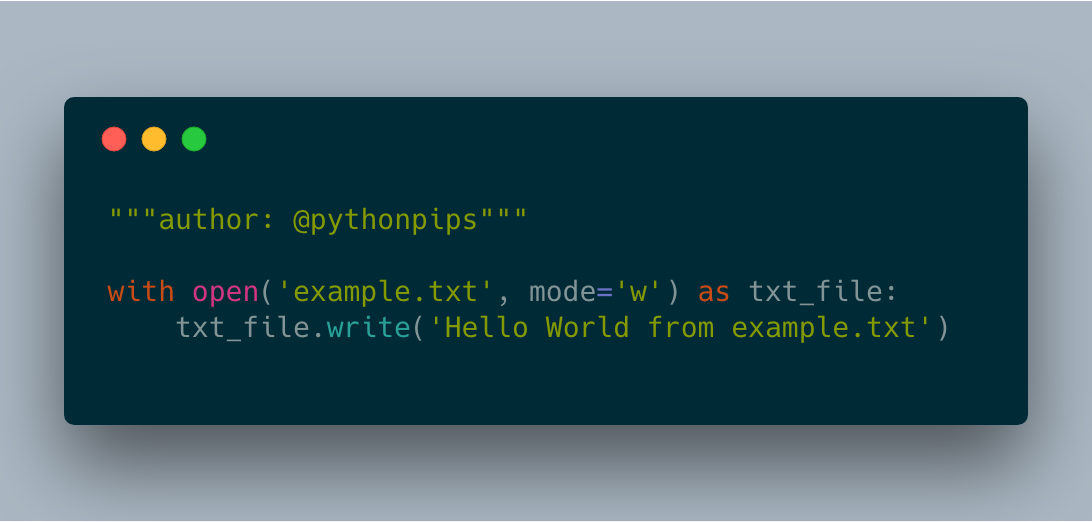 How to Write Text File in Python