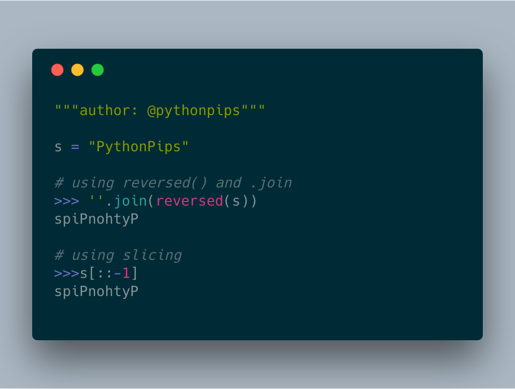 How to Reverse a String in Python