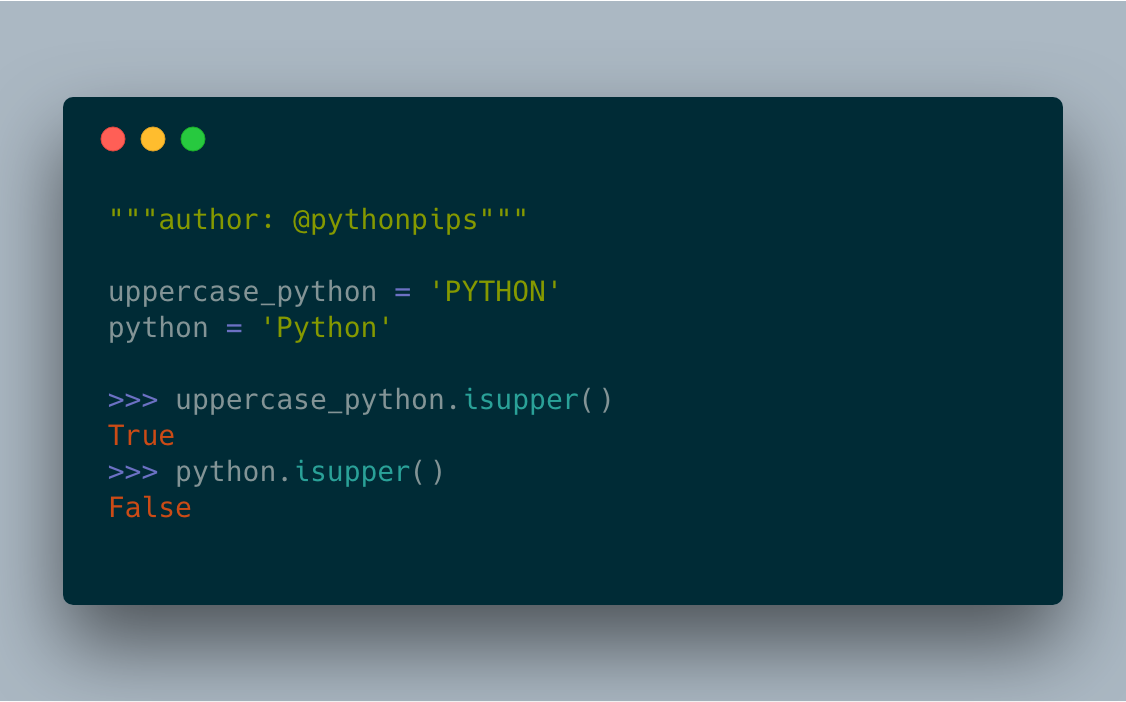 How to Check if a String is Uppercase in Python