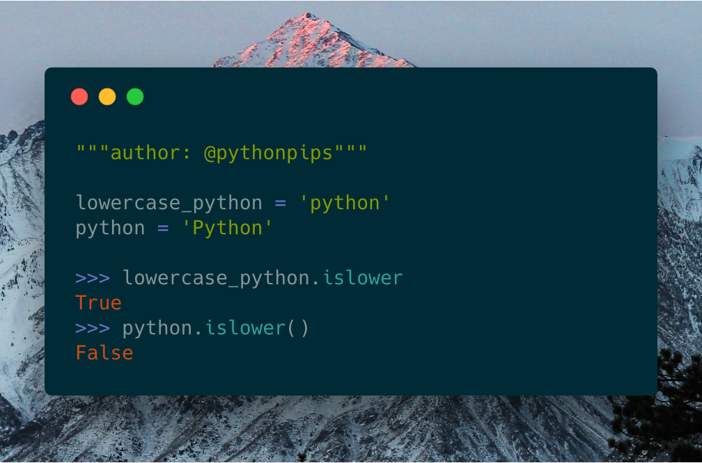 How to Check if a String is Lowercase in Python