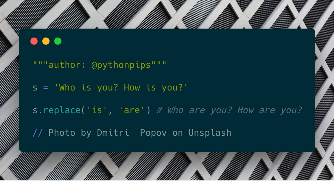 How to Replace a Word with Given Input in Python