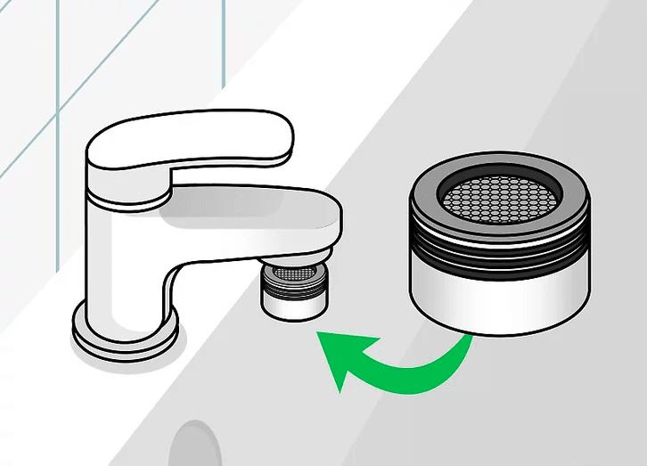 Встановлення аератора насадки на кран умивальника