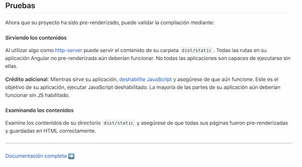 screenshot of docs in spanish