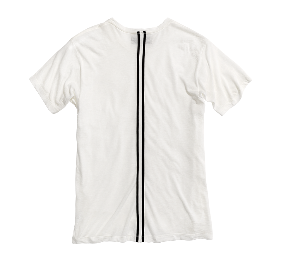 Public school tee white back position
