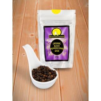 Black Peppercorns Organic, Whole