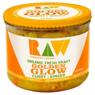 Raw Organic Fresh Kraut Golden Glow Curry & Ginger