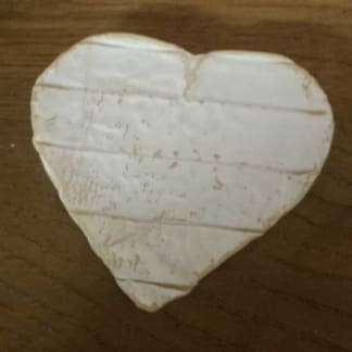 Neufchatel Brie heart, heart shaped Cheese