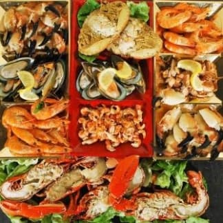 Gourmet Seafood Platter serves 4 to 6