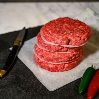 Organic 'American Style' Hamburgers (4 Pack)