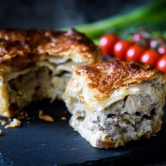 Pheasant, Leek and Portobello Mushroom Pie