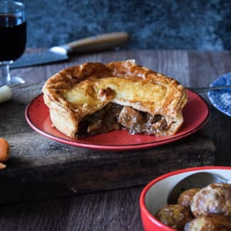 Beef, Pheasant and Hooky Ale Family Pie