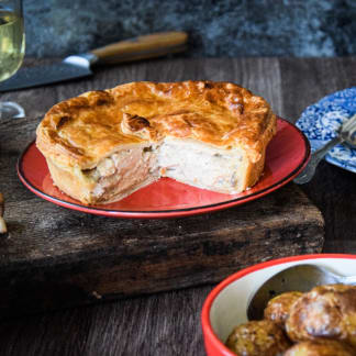 Chicken, Pheasant and Mushroom Family Pie