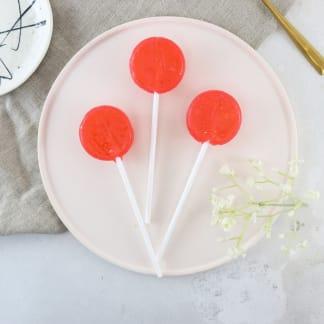 Alcoholic Cosmopolitan Lollipops