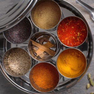 Indian Spice Collection with 10 Spices & Storage Tin