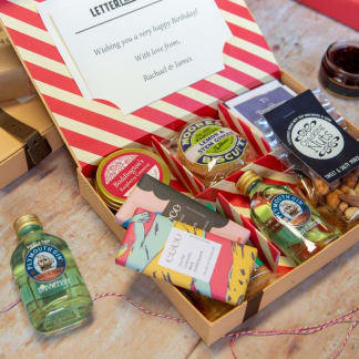 Best of British Letter Box Hamper - with Gin