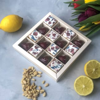 Mothers Day Pine Nut & Lemon Chocolate Hearts & Nougat Gift Box