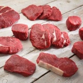 Organic Beef Steak Meat Box