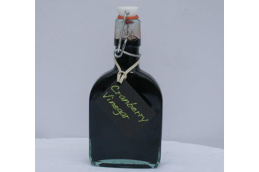 Cranberry Crème Vinegar Bottle