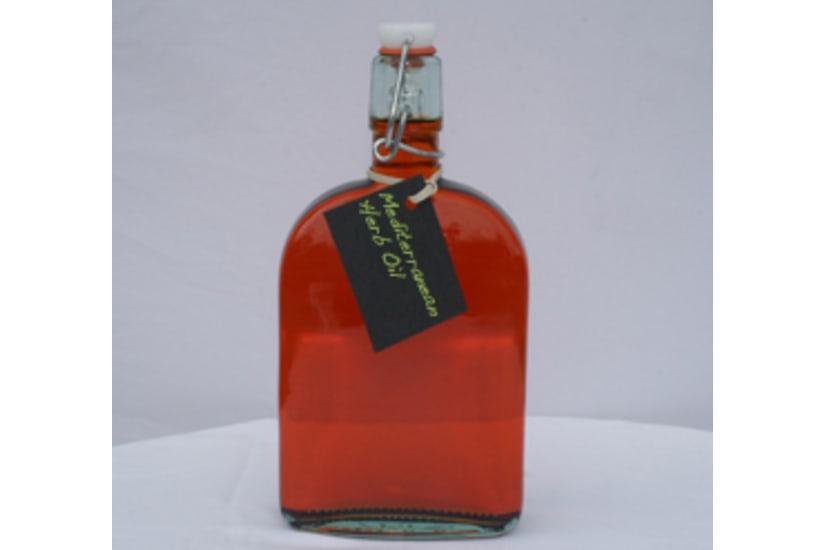 Mediterranean Herb Infused Olive Oil Bottle