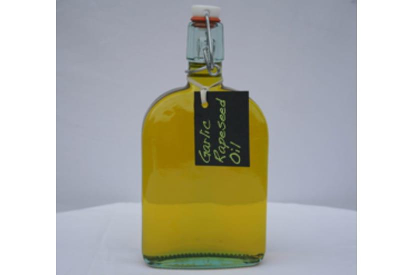 Ola Oils Garlic Infused Rapeseed Oil Bottle