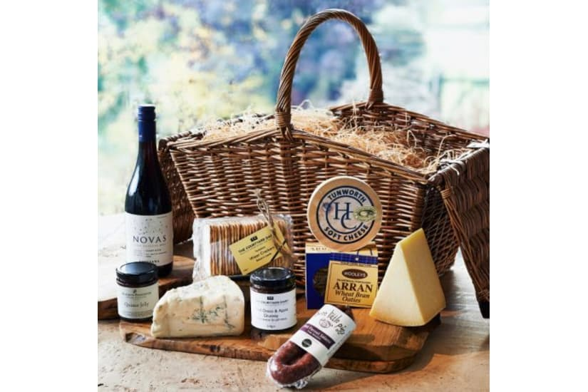 Utterley Delicious - Cheese and Wine Hamper