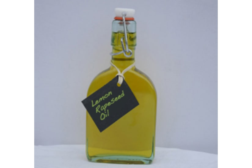 Ola Oils Lemon Infused Rapeseed Oil Bottle