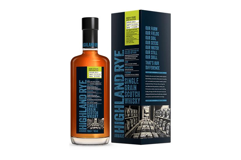 Arbikie Highland Rye Single Grain Scotch Whisky