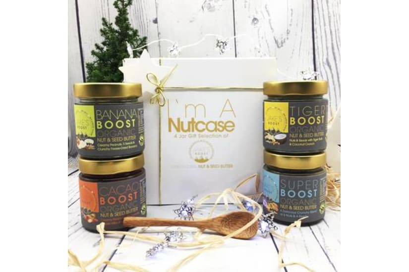GIFT BOX- 4 Full Size Jars Of Organic Boost Butters