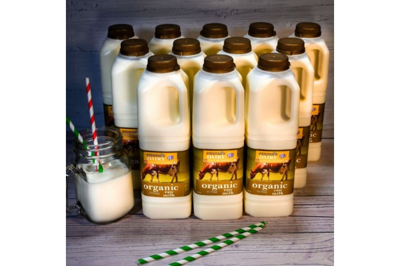 Organic Raw Milk 12 litre - Free Delivery