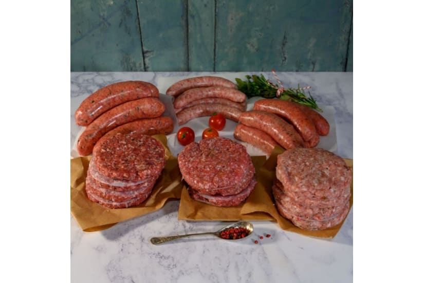Organic Sausage & Burger BBQ Meat Box