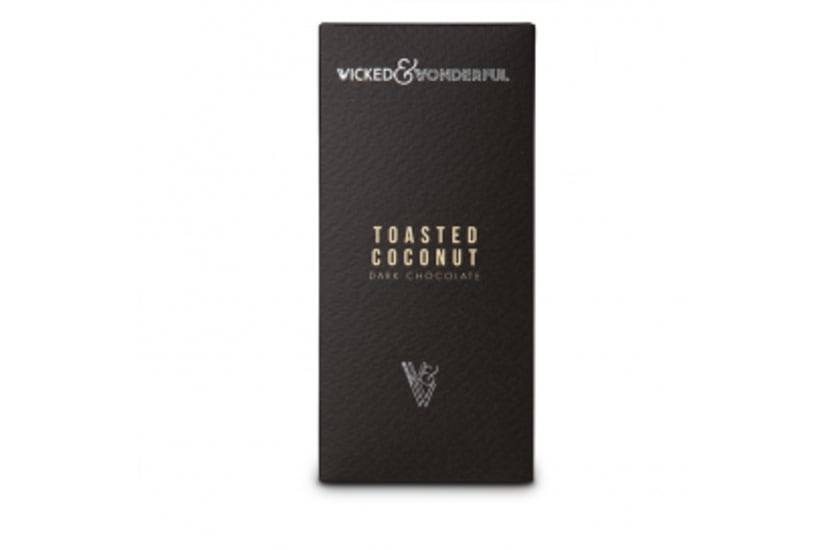 Toasted Coconut dark chocolate bar