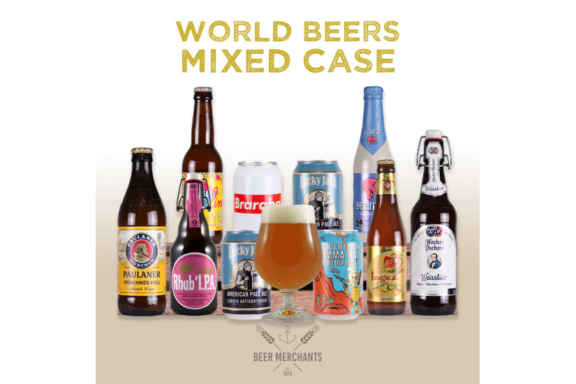 World Beers Mixed Case (10 Beers & a Free Glass)
