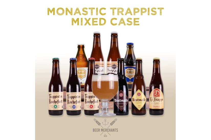 Monastic Trappist Beers Mixed Case (10 Beers & a Free Glass)