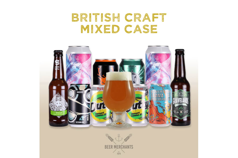 British Craft Beer Case (10 Beers & a Free Glass)