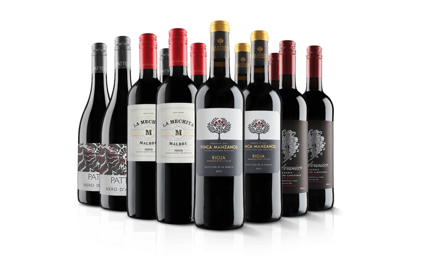 Luxury 12 Bottle Red Wine Selection
