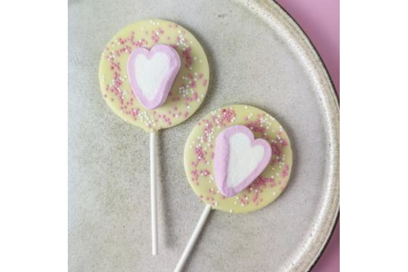 Heart Marshmallow Lollipop