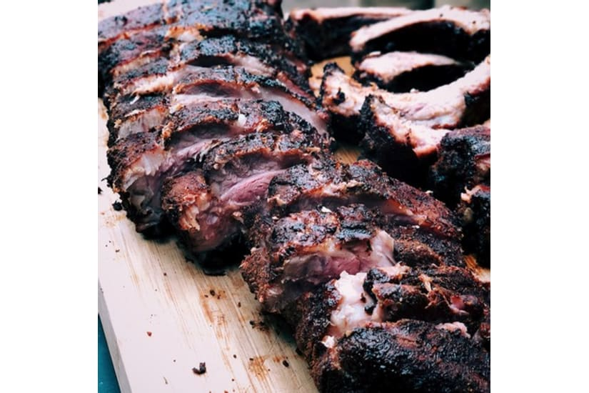 Black Bacon Ribs   Free Range Yorkshire Pork