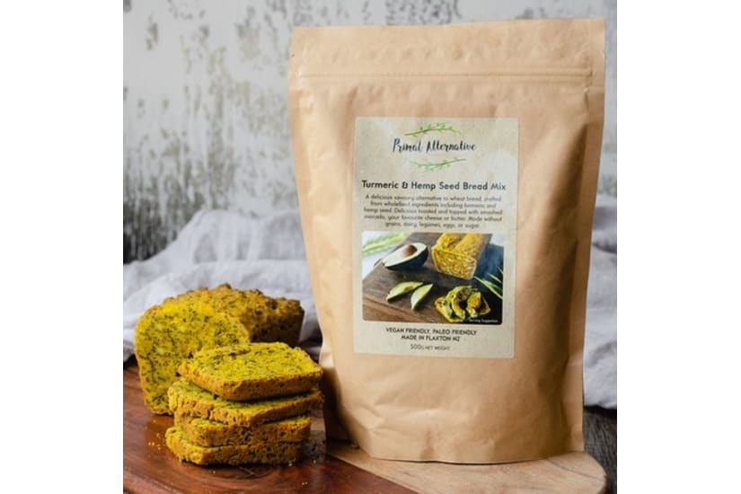 Packet Mix - Turmeric and Hemp Seed Bread