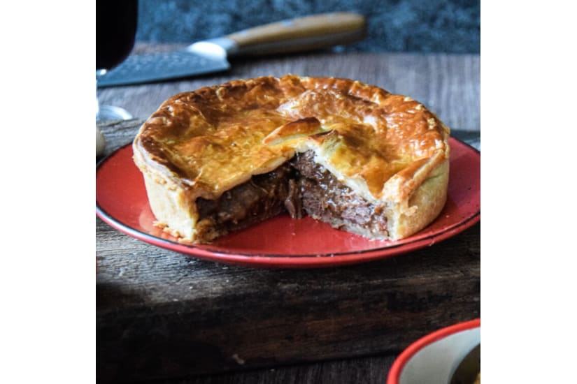 Venison, Beef, Red Wine and Cranberry Family Pie