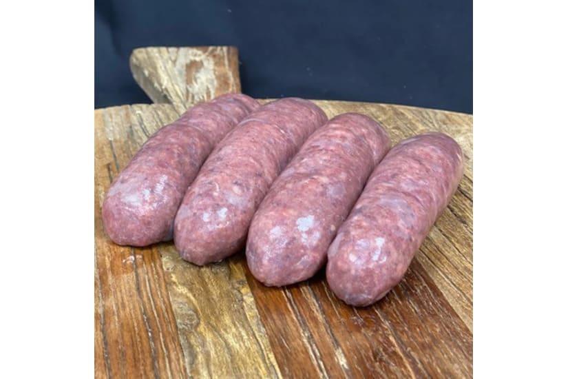 Mangalitza Pork Sausages with Cracked Black Pepper