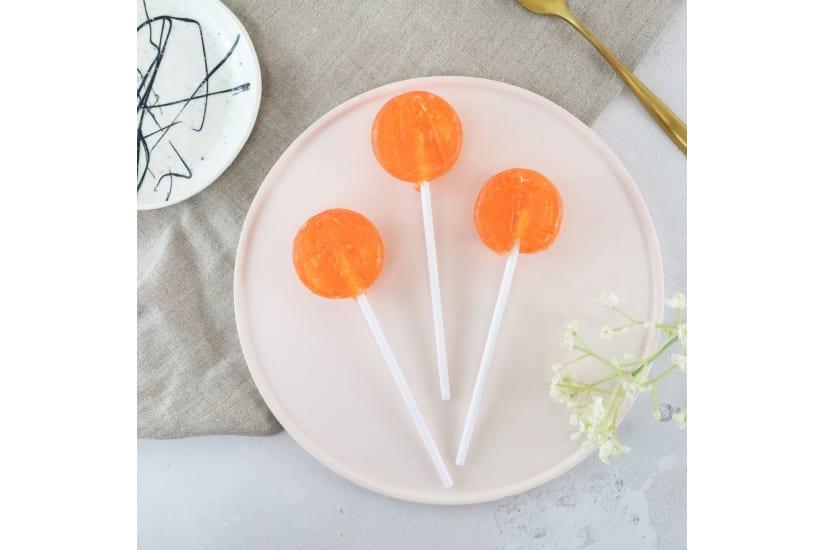 Alcoholic Peach Bellini Lollipops