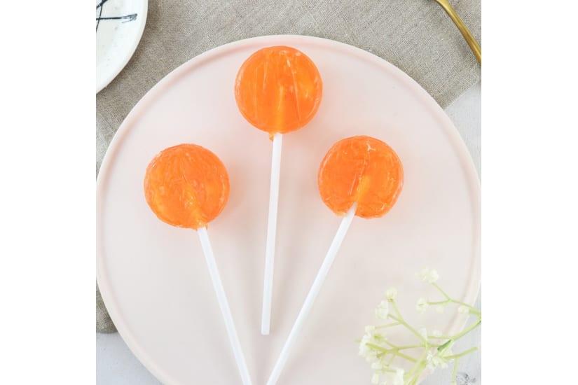 Orange and Mango Lollipops