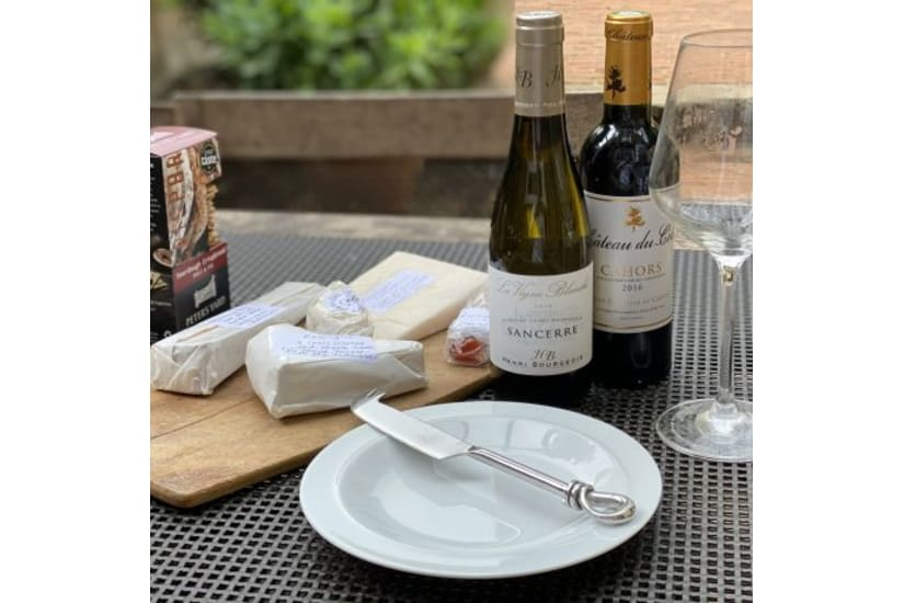 Cheese Tasting Experience in a Box with Wine - for Two