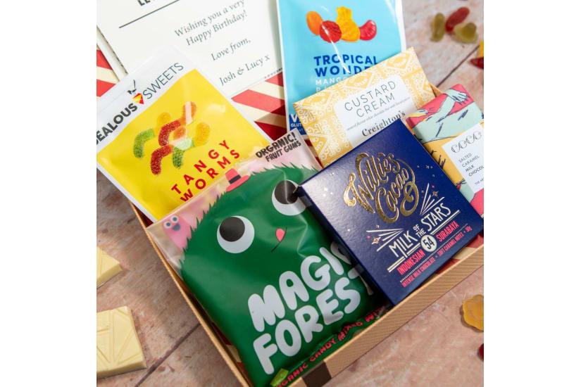 Retro Sweets Letter Box Hamper