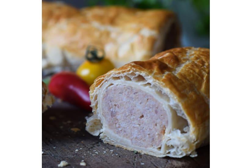Venison, Pheasant, Sweet Chilli Sausage Roll
