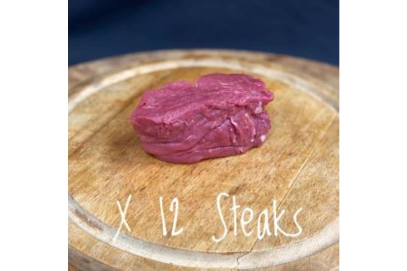 Case of 12 Gold Star Awarded Rose Veal Fillet Steaks